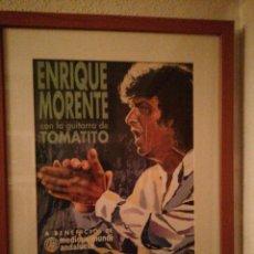 Carteles: CARTEL ENMARCADO DE ENRIQUE MORENTE. Lote 198858541
