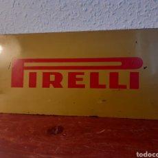 Carteles: CHAPA DE PIRELLI - TALLER MECÁNICO - CARTEL - METAL - AÑOS 60. Lote 201326370