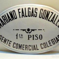 Cartazes: CARTEL ESMALTADO, MARIANO FALGAS, AGENTE COMERCIAL, FARINETTI VALENCIA .W. Lote 201361121