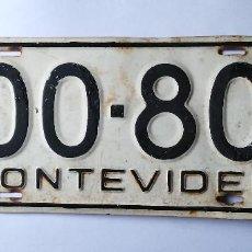 Affiches: MATRICULA MONTEVIDEO - URUGUAY - ORIGINAL. Lote 202536821