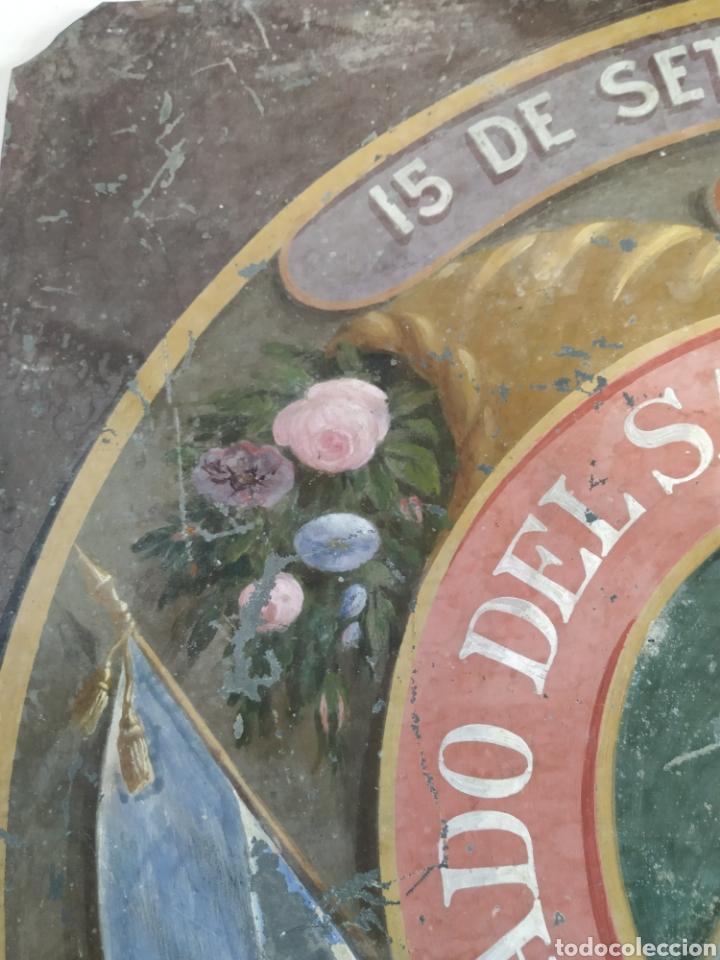 Carteles: Chapa pintada a mano consulado del Salvador en guayaquil - Foto 5 - 203270496