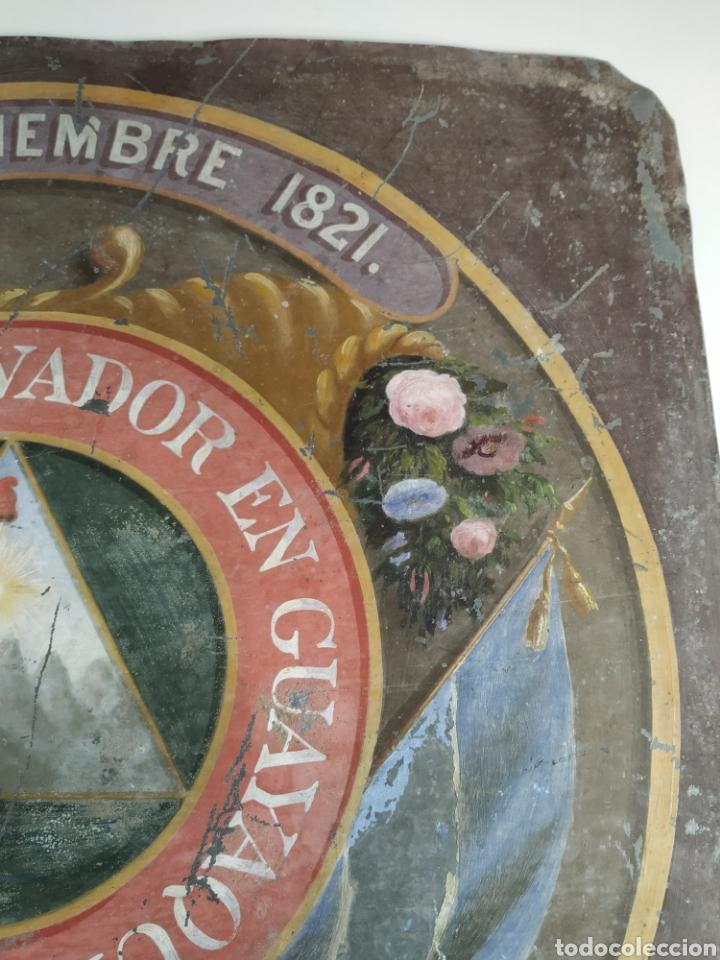 Carteles: Chapa pintada a mano consulado del Salvador en guayaquil - Foto 6 - 203270496