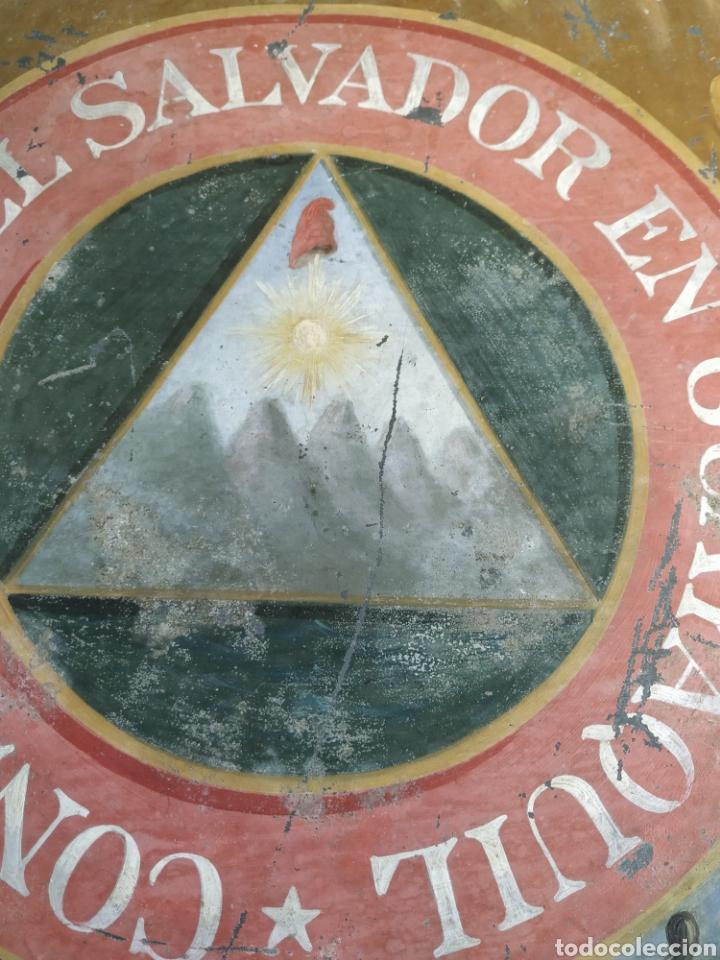 Carteles: Chapa pintada a mano consulado del Salvador en guayaquil - Foto 7 - 203270496