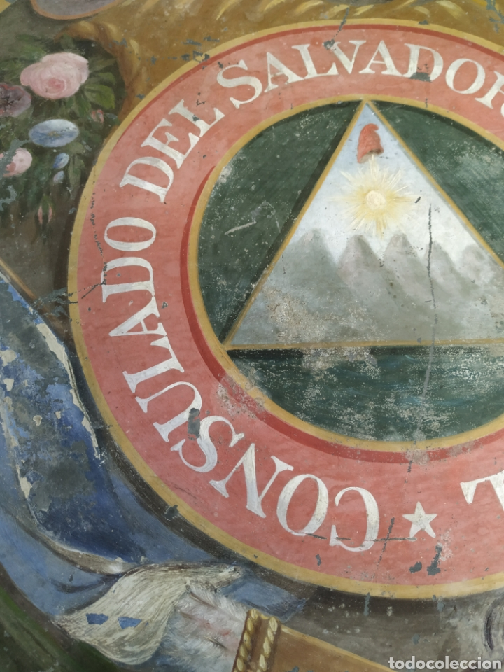 Carteles: Chapa pintada a mano consulado del Salvador en guayaquil - Foto 8 - 203270496