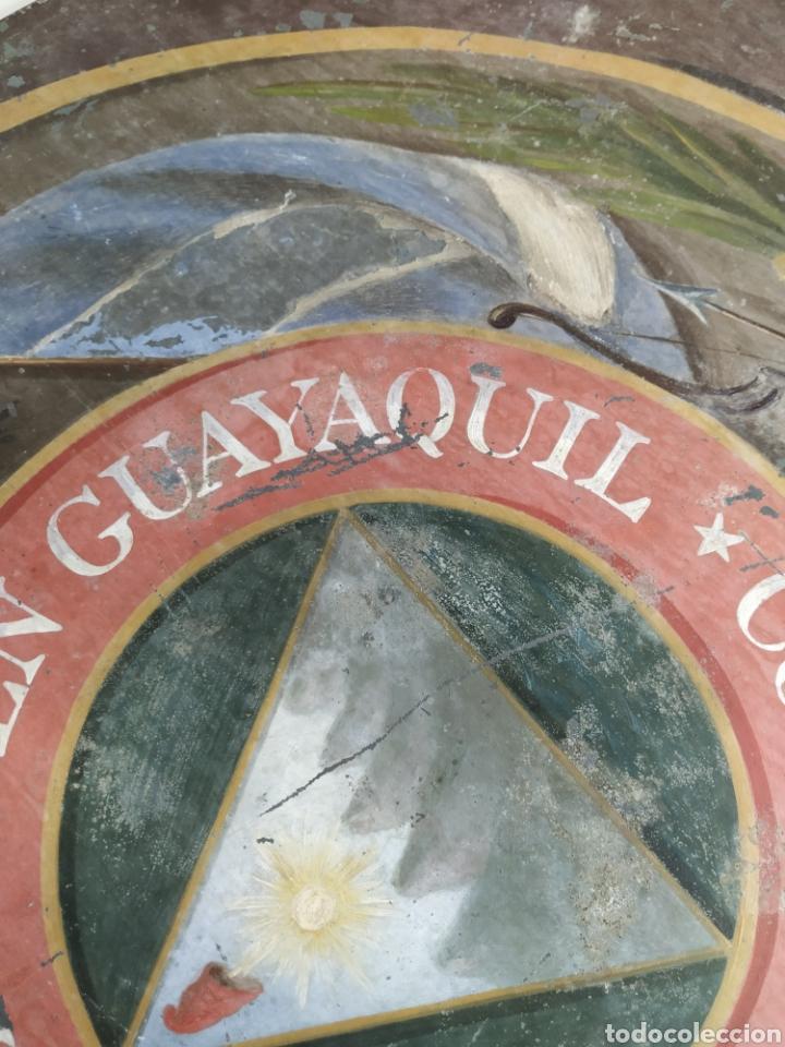 Carteles: Chapa pintada a mano consulado del Salvador en guayaquil - Foto 11 - 203270496