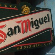 Carteles: CHAPA PUBLICITARIA CERVEZA SAN MIGUEL. Lote 203393427