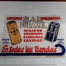 Affissi: PUBLICIDAD DE SAL PURASAL. Lote 203854982