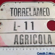 Carteles: ANTIGUA CHAPA AGRÍCOLA TORRELAMEO L-11. Lote 204365210