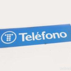 Carteles: PLASTICO DEL LUMINOSO DE LA CABINA DE TELEFONOS DE TELEFÓNICA - VINTAGE. Lote 205206996