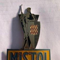 Carteles: CHAPA ESMALTADA MISTOL PARA VENDEDOR FINAL AÑOS 50. Lote 206268601