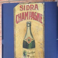 Affiches: CHAPA METÁLICA SIDRA CHAMPAGNE ALFAGEME, 42,5 X 17,5 CM. Lote 206465516