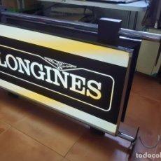 Carteles: CARTEL LUMINOSO DE LONGINES VINTAGE ANTIGUO. Lote 204620105
