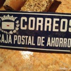 Carteles: ANTIGUA PLACA DE CORREOS AUTENTICA 45X20 CMSL. Lote 206508133