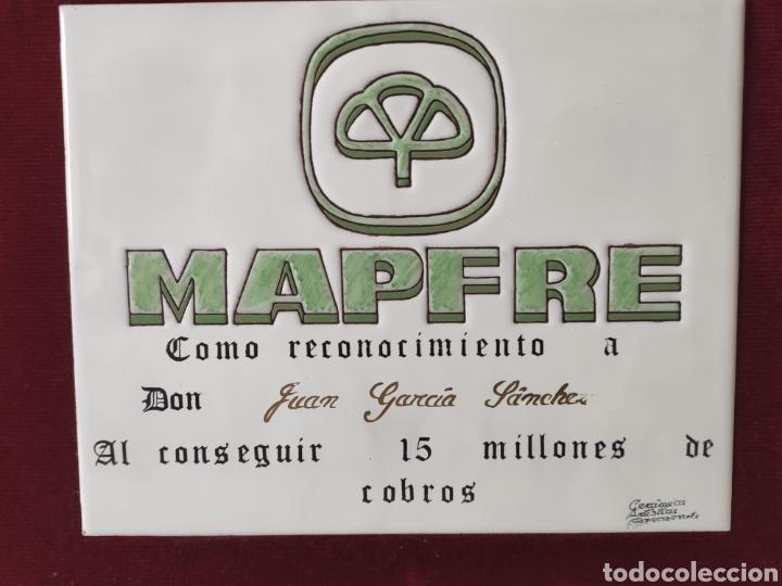 Carteles: ÚNICO AZULEJO ESMALTADO ¡¡¡ MAPFRE !!! - Foto 2 - 207072802