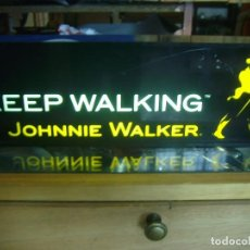 Carteles: LETRERO LUMINOSO YOHNNIE WALKER PUBLICIDAD WHISKEY KEEP WALKING. Lote 207752621