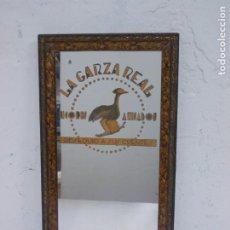 Carteles: ANTIGUO ESPEJO DE PUBLICIDAD DE LA GARZA REAL LICORES Y ANISADOS-CARTEL PUBLICITARIO. Lote 208447412