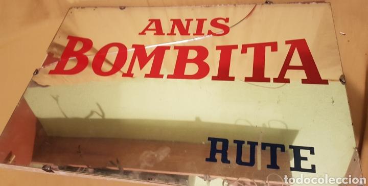 Carteles: Antiguo y espectacular cartel espejo Publicidad Anis Bombita Rute Cordoba - Foto 2 - 208945091