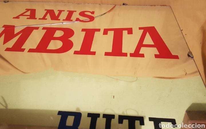 Carteles: Antiguo y espectacular cartel espejo Publicidad Anis Bombita Rute Cordoba - Foto 4 - 208945091