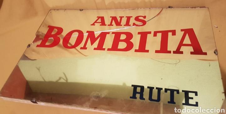 ANTIGUO Y ESPECTACULAR CARTEL ESPEJO PUBLICIDAD ANIS BOMBITA RUTE CORDOBA (Coleccionismo - Carteles y Chapas Esmaltadas y Litografiadas)