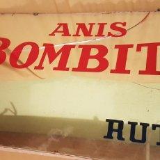 Carteles: ANTIGUO Y ESPECTACULAR CARTEL ESPEJO PUBLICIDAD ANIS BOMBITA RUTE CORDOBA. Lote 208945091
