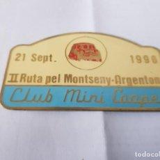 Carteles: CLUB MINI 1996 MONTSENY ARGENTONA. Lote 209915625