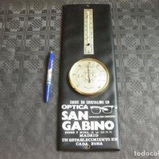 Carteles: HIGRÓMETRO TERMOMETRO SAN GABINO - CALLE ESPOZ Y MINA - VINTAGE. Lote 209974155