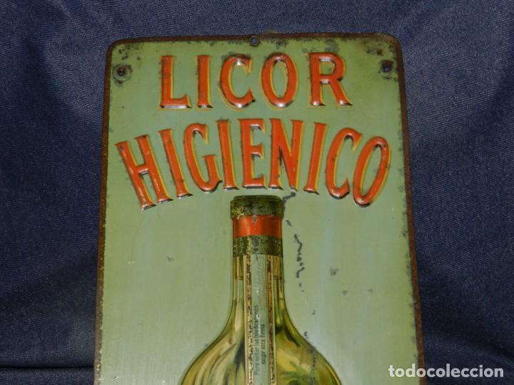 Carteles: (M) CHAPA LITOGRAFICA ANTIGUA - LICOR HIGIENICO JUAN PARERA BARCELONA, 50X17CM, SEÑALES DE USO - Foto 3 - 210086975