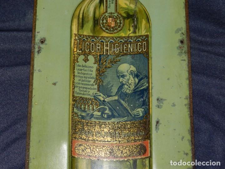 Carteles: (M) CHAPA LITOGRAFICA ANTIGUA - LICOR HIGIENICO JUAN PARERA BARCELONA, 50X17CM, SEÑALES DE USO - Foto 5 - 210086975