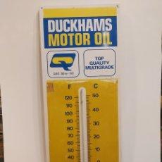 Carteles: ANTIGUO CARTEL TERMOMETRO DUCKHAMS MOTOR OIL. Lote 210181071