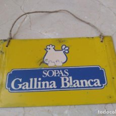 Carteles: ANTIGUA PLACA GALLINA BLANCA. Lote 210234725