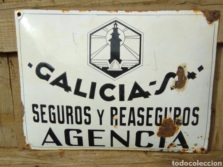 Carteles: Placa esmaltada y abombada Seguros Galicia - Foto 5 - 210346437