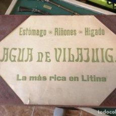 Cartazes: CARPETA AGUA DE VILLAJUIGA BARCELONA. Lote 210539763