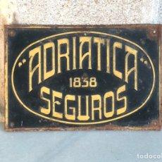 Carteles: ANTIGUA CHAPA DE ADRIATICA SEGUROS 1838. Lote 211503249