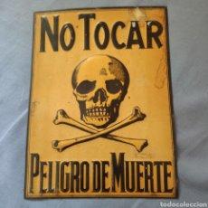 Carteles: ANTIGUO CARTEL CHAPA, CALAVERA.. Lote 213141896