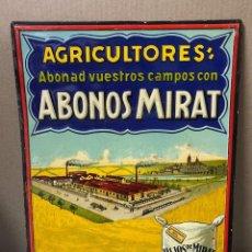 Carteles: CHAPA PUBLICITARIA ABONOS MITAR. SALAMANCA. AGRICULTORES. MEDIDAS APROX.: 50 X 36 CM. Lote 214086840