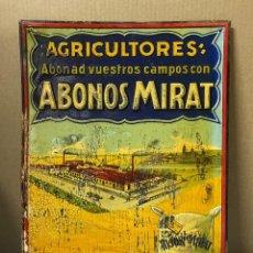 Carteles: CHAPA PUBLICITARIA ABONOS MITAR. SALAMANCA. AGRICULTORES. MEDIDAS APROX.: 50 X 36 CM. Lote 214086866