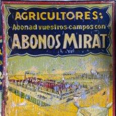 Carteles: CHAPA PUBLICITARIA ABONOS MITAR. SALAMANCA. AGRICULTORES. MEDIDAS APROX.: 50 X 36 CM. Lote 214087530