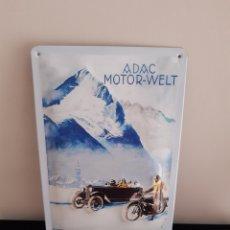Carteles: CARTEL CHAPA VINTAGE ADAC MOTOR-WELT. Lote 214178707