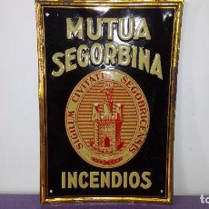 Carteles: CHAPA DE SEGUROS: SEGORBE. Lote 214193443