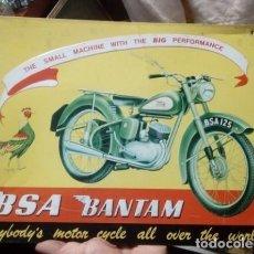 Carteles: CHAPA BSA BANTAM. Lote 214216188