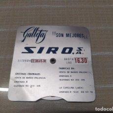 Carteles: MUY RARO PARQUIMETRO DE PUBLICIDAD GALLETAS SIRO DE CHAPA MIREN FOTOS. Lote 214442720