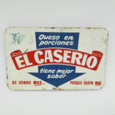 Carteles: ANTIGUA CHAPA LITOGRAFIADA CARTEL PARA DISPLAY DE ESTANTERIA DE EL CASERIO AÑOS 70 OPORTUNIDAD ÚNICA. Lote 214577167
