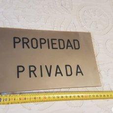 Carteles: CARTEL PROPIEDAD PRIVADA. Lote 215017091