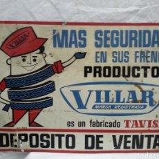 Carteles: CHAPA PUBLICIDAD VILLAR DE MACANICA. Lote 215292707