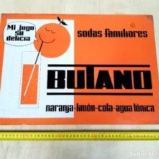 Affiches: CHAPA PUBLICITARIA SODAS FAMILIARES BUTANO - AÑOS 60. Lote 215450697