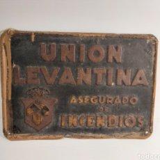 Carteles: UNION LEVANTINA PLACA SEGUROS. Lote 216584728