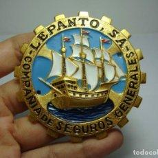 Carteles: CHAPA PUBLICITARIA. COMPAÑÍA DE SEGUROS GENERALES - LEPANTO. Lote 217198216