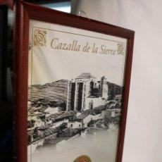 Carteles: ANTIGUO ESPEJO PUBLICITARIO DE MIURA, CREMA DE GUINDAS, CAZALLA DE LA SIERRA. Lote 217401096