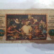 Carteles: PLANCHA METÁLICA ORIGINAL CARTEL MEMBRILLO JUSTO ESTRADA. Lote 217560903