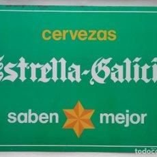 Carteles: ESTRELLA GALICIA CERVEZA PLACA CHAPA PUBLICIDAD CERVEZAS. Lote 217994780